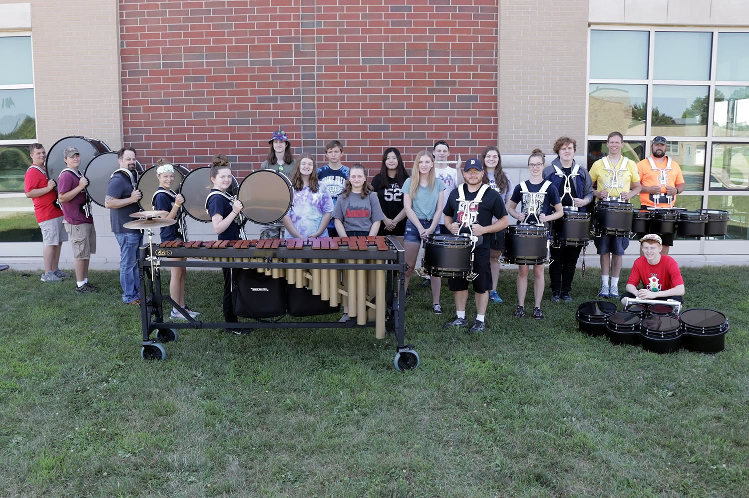 band memebers with new percussion