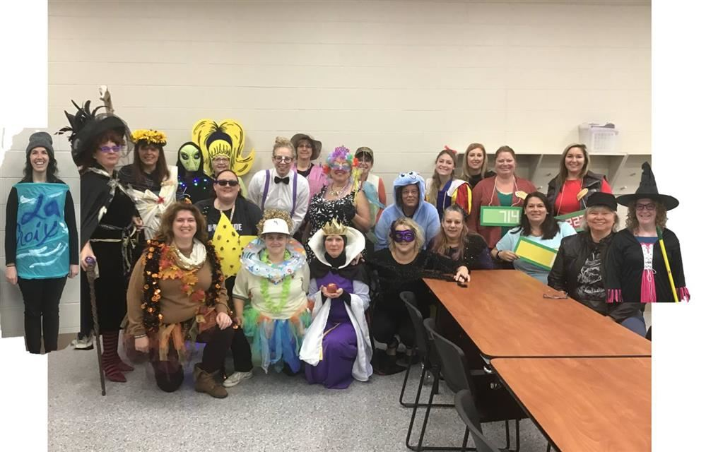 Staff ready for Halloween